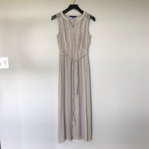 Apt. 9 Women Petite Extra Small Maxi Dress Sand